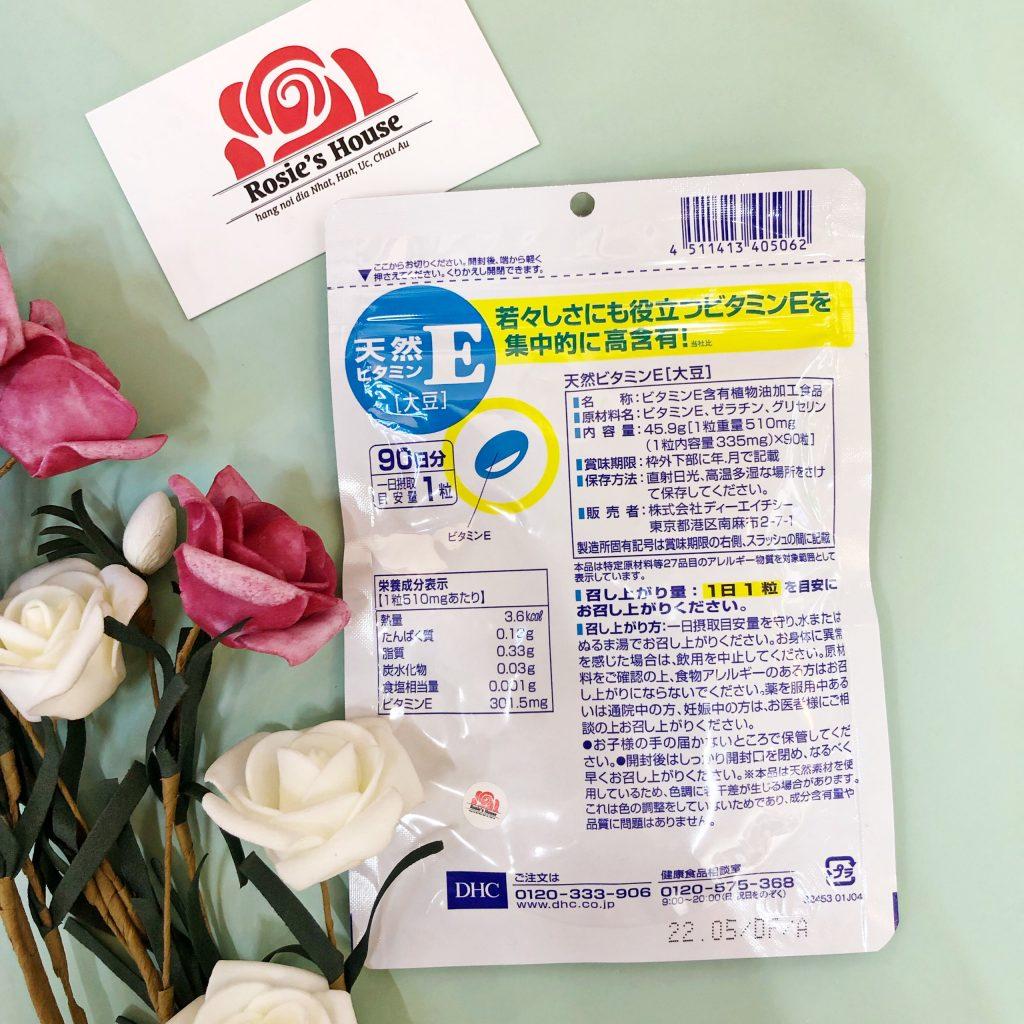 Viên uống bổ sung Vitamin E DHC Nhật Bản