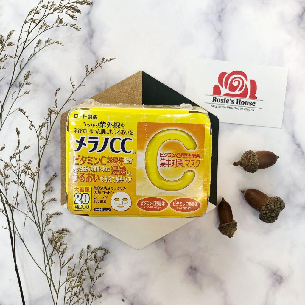 mặt nạ melano cc cung cấp vitamin c