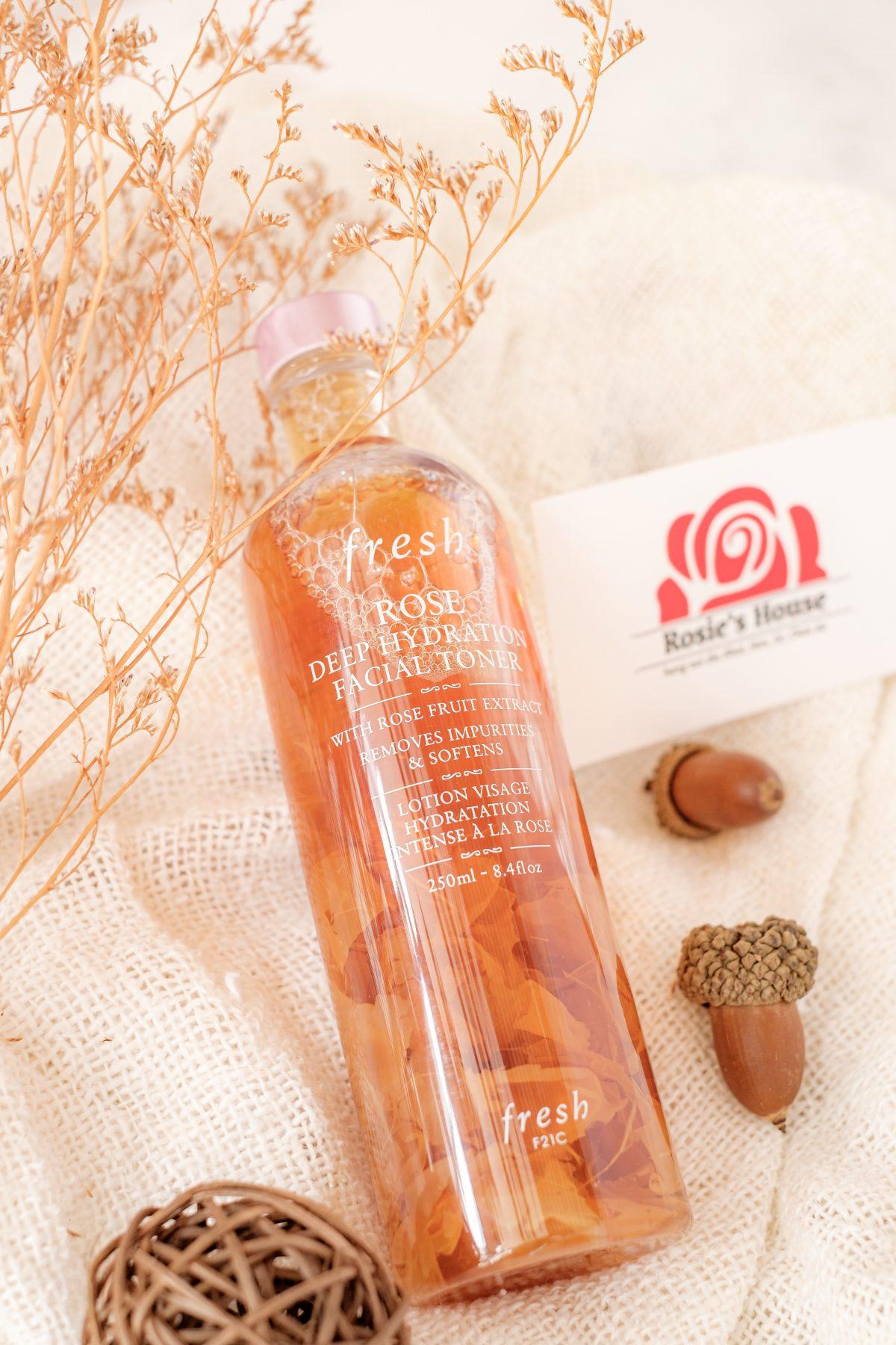 Nước hoa hồng Fresh Rose Deep Hydration Facial Toner