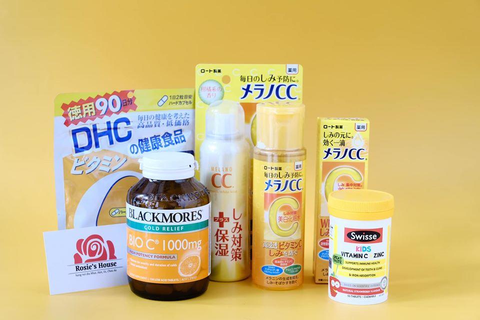 Dòng sản phẩm chưa lượng lớn Vtammin C cho làn da trẻ hóa