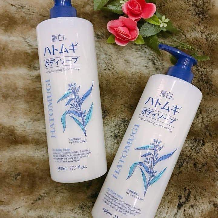 Sữa tắm dưỡng ẩm trắng da Hatomugi Moisturizing Washing - Rosie's House